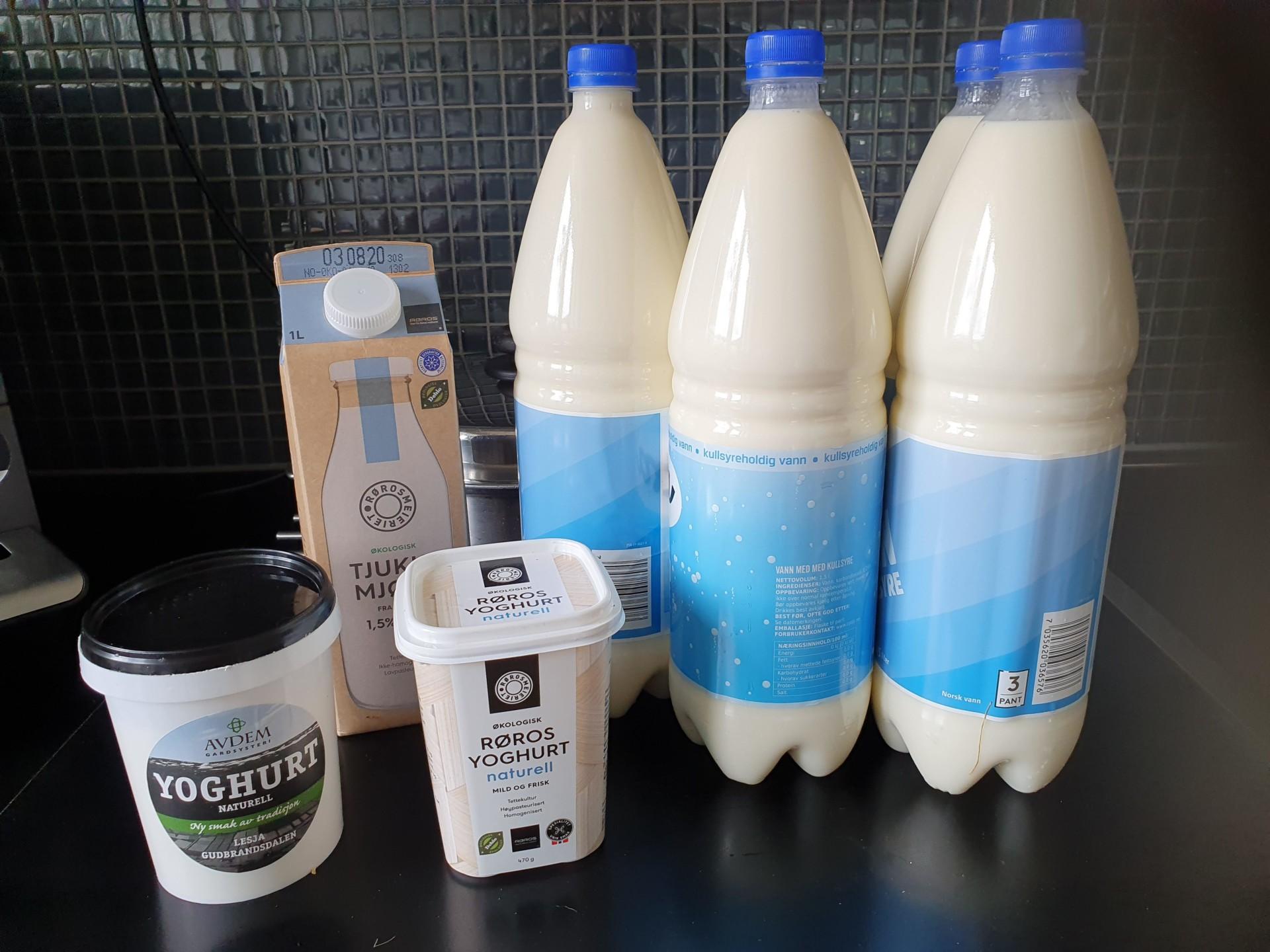 Mjølk fra glade kyr